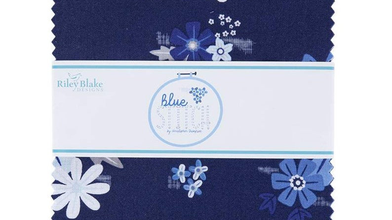 """Blue Stitch 10"""" Stacker includes 42 10"""" squares"""
