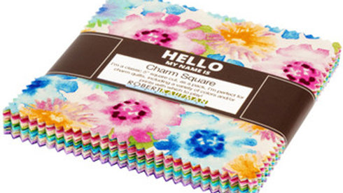Robert Kaufman Charm Squares Natural Blooms by Wishwell