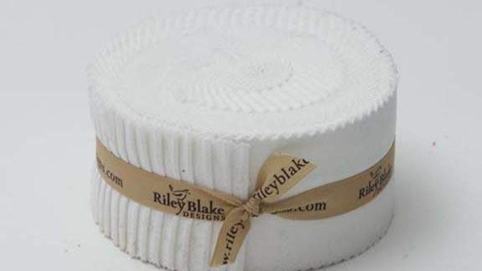 "Confetti Cottons Riley White 2 1/2"" Rolie Polie"
