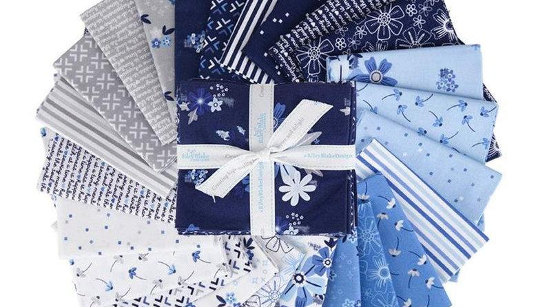 Blue Stitch Fat Quarter Bundle Christopher Thompson for Riley Blake Designs