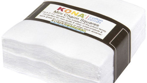 "KONA White Mini Charm 2.5""x 2.5"" 84PCS"