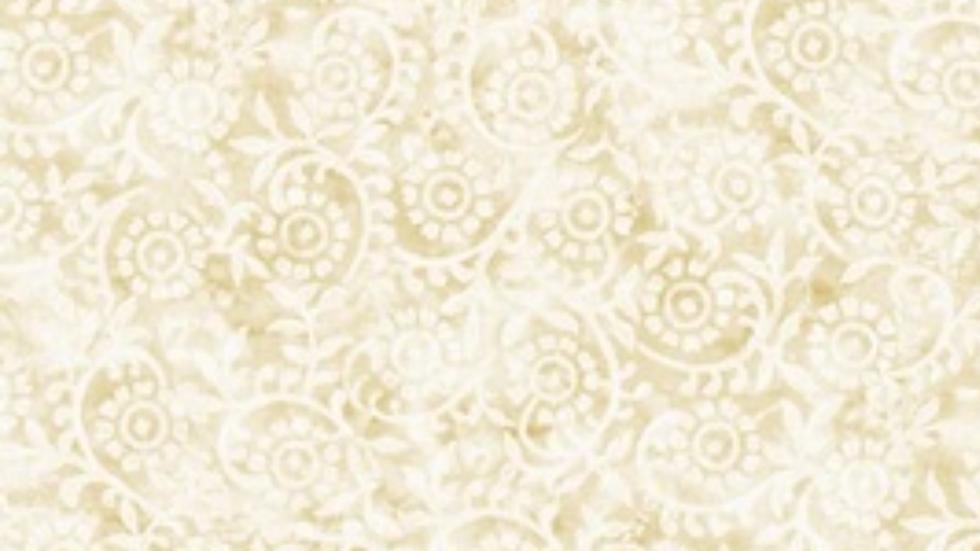 Timeless Treasures Stamped Pattern Cream C7427