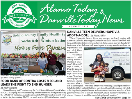 Adopt-a-Doll Featured in Alamo Today and Danville Today News!