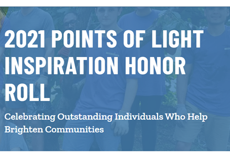 Adopt-a-Doll on the Points of Lights Inspiration Honor Roll
