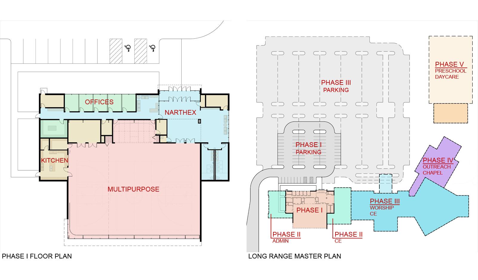 Floor Plan and Long Range Master Plan