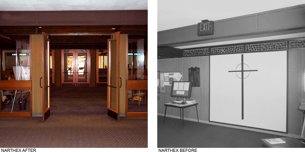Narthex Before After