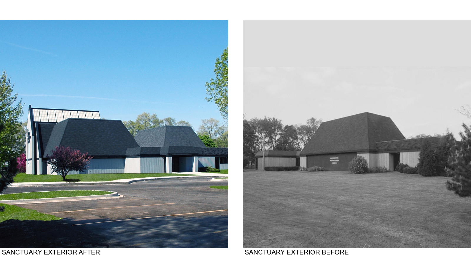Eanctuary Exterior Before After