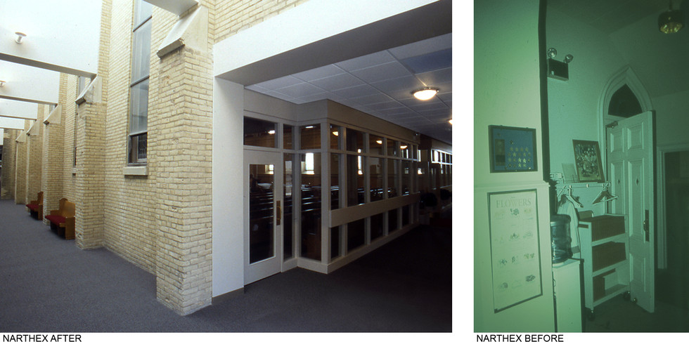 Narthex Before&After