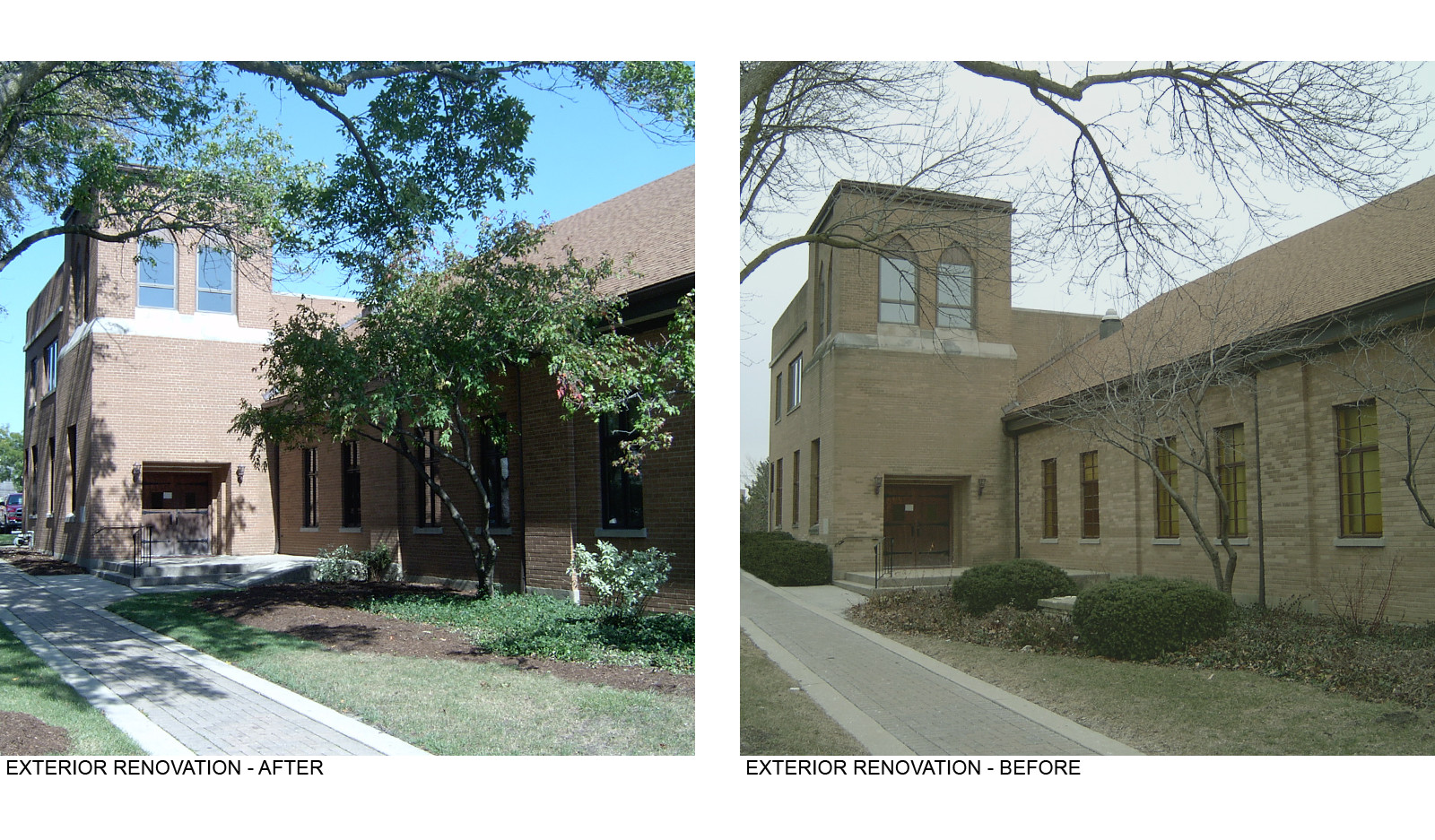 Exterior Renovation Before and After