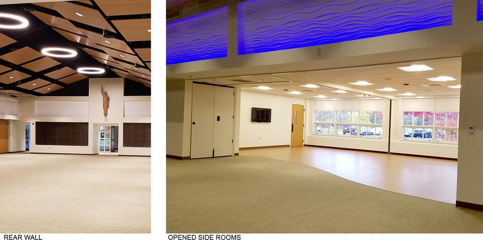 Rear Wall & Open Side Rooms