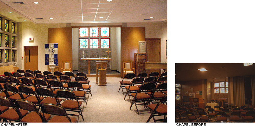 Chapel Before and After