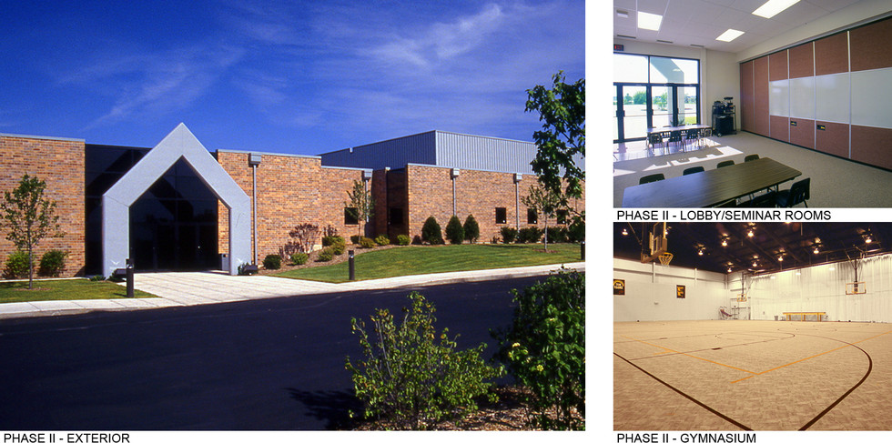 Phase II Exterior, Lobby, and Gym