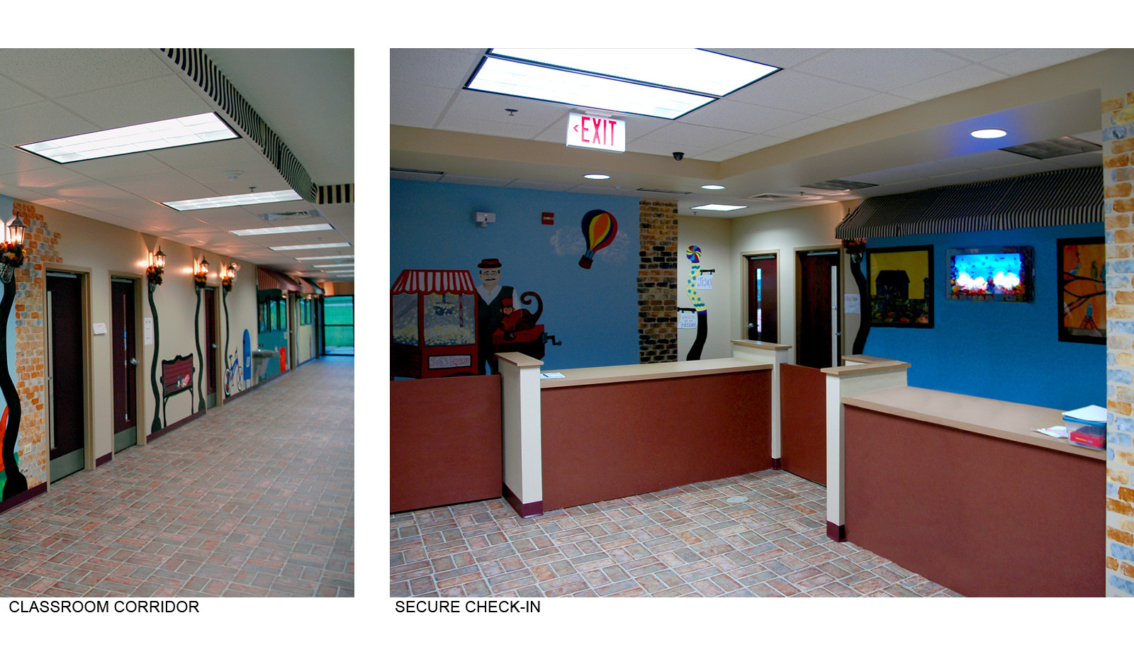 Classroom Corridor and Check in