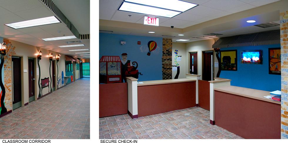 Classroom Corridor and Check in