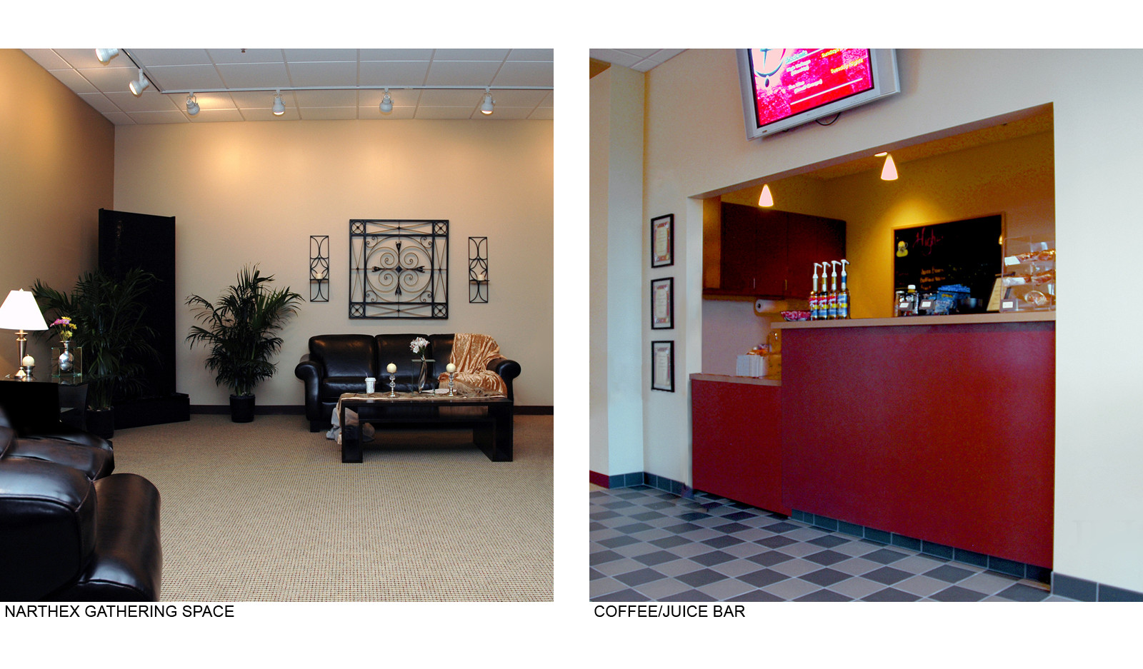 Narthex and Coffee Bar