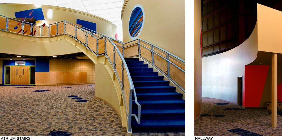 Atrium Stairs and Hallway