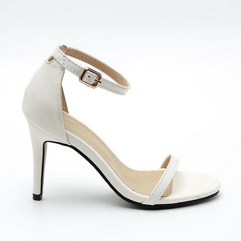 White Stiletto Sandals Size 35