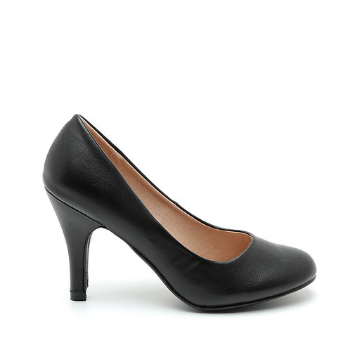 Classic Black Round Toe Pumps Size 32-35