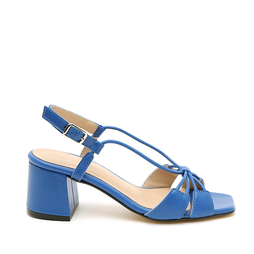Royal Blue Fine Straps Medium Heel Sandals Size 33-35