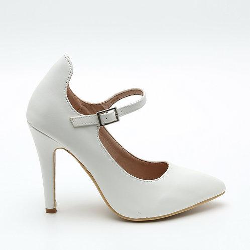 White Mary Jane Wedding Stilettos Size 32-35