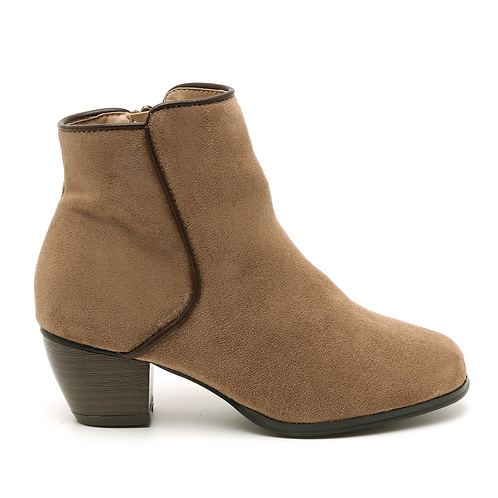Taupe Middle Decorative Cut Booties Size 32-35