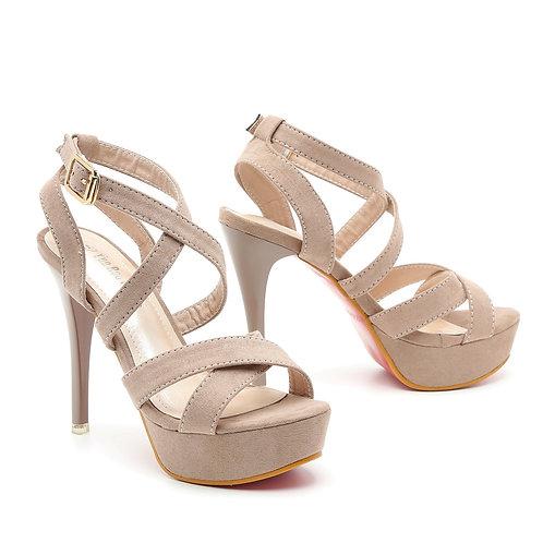 Super High Stiletto Strappy Platforms Sandals Size 34