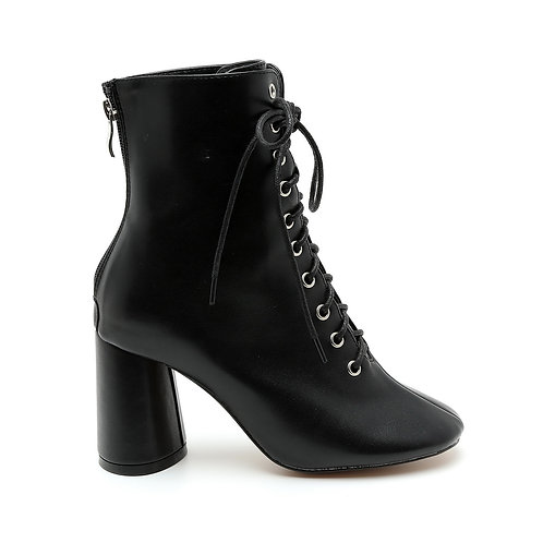 Lace-Up Mid Leg Boots Size 34