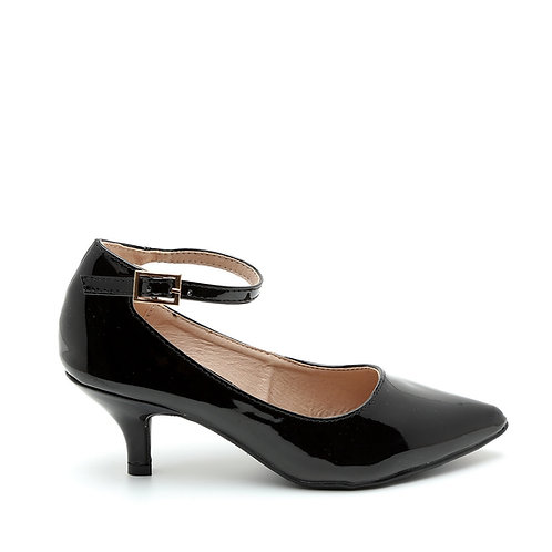 Black Patent Ankle Strap Pumps Size 32-35