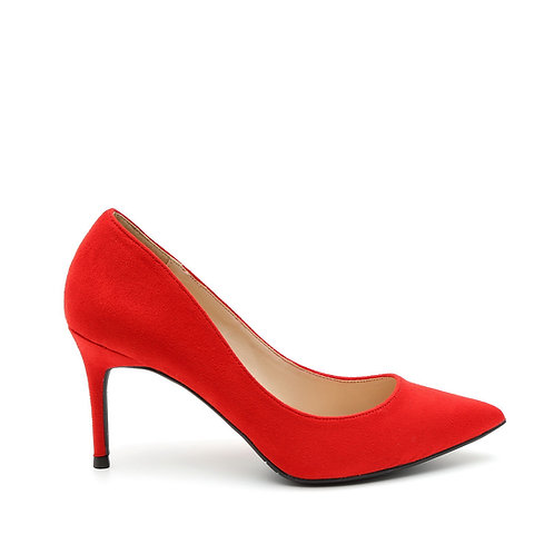Classic Red High Heels Pointy Pumps Size 33-35