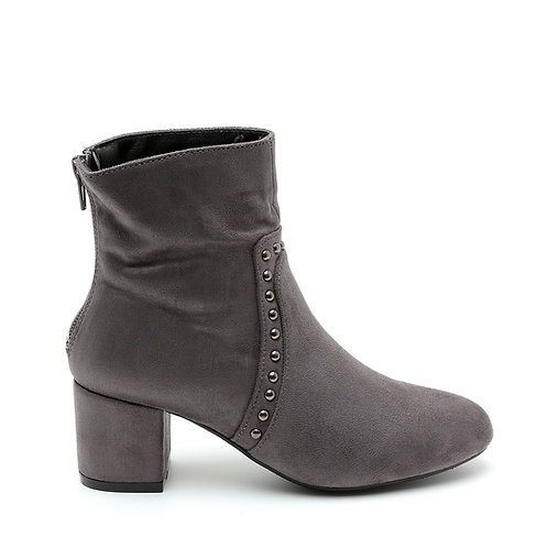 Grey Decorative Studs Ankle Boots Size 32-33