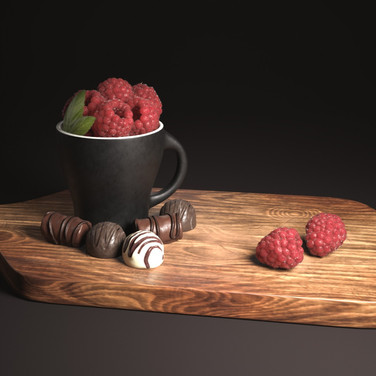 Still Life - Raspberries