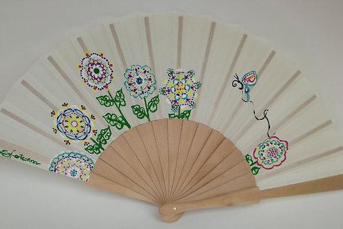 Abanico Flors Mandalas