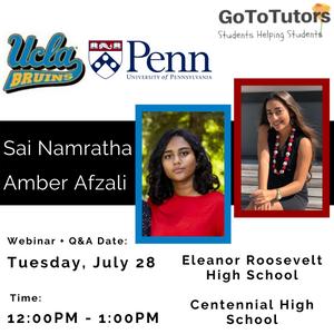 Sai Namratha | UCLA   Amber Afzali | UPenn
