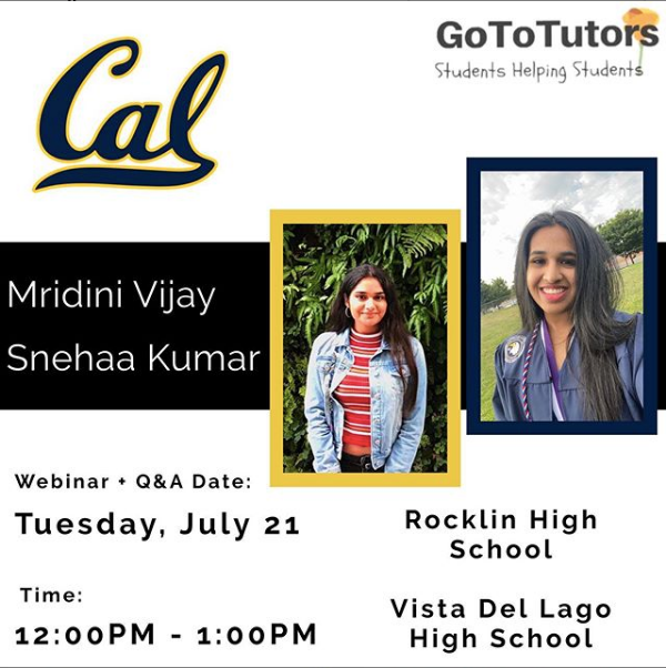 Mridini Vijay and Snehaa Kumar | Berkeley