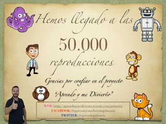 50.000 reproducciones