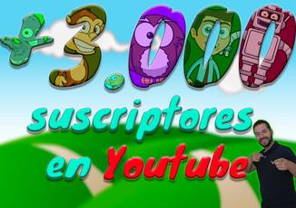 + 3.000 suscriptores en Youtube
