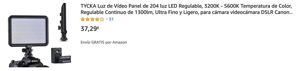 ▶ Diseño Ultra-Compacto El compacto diseño portátil (peso 256g, dimesiones 175mm x 125mm x 22mm) te permite llevarlo tanto para sesiones de interior como de exterior, sin preocuparte de lasdistancias, las limitaciones de tiempo o del clima. El diseño ultra-fino de 22mm se asegura de que ocupe menos espacio en tu mochila. ▶ Ajuste Progresivo del Brillo Presenta 204 bombillas LED de alta calidad, proporcionando un rango de luz mas ámplio y un efecto mas brillante. Gira la rueda para ajustar su brillo de 0% a 100% progresivamente, sin saltos, lo que asegura que la luz es suave a la vez que brillante. Protección ocular, sin radiación, nada de zona oscura, cero efecto fantasma, sin deslumbramientos ni daño ocular. Personaliza fácilmente tu nivel de iluminación mediante un simple giro. ▶ Excelente Compatibilidad La zapata y la rosca de 1/4 pulgada hacen que sea más fácil ajustar distintos dispositivos. Puedes ajustarlo fácilmente a tu video cámara, cámara y soporte de luz. Rompe con las restricciones del terreno para tu foco LED y consigue diferentes efectos de luz. Además, no necesitas llevar tu foco LED contigo a todas partes. ▶ Extensión Infinita: El diseño único de articulaciones desmontables te permite unir múltiples focos LED para conseguir diferentes efectos de luz. ▶ Ahorro de energía y luz ecológica: Los 204 LEDs son altamente eficientes, usando menos energía que las bombillas tradicionales y durando unas 50.000 horas de vida útil. Esto se traduce en menos gasto eléctrico y menor huella de carbono.