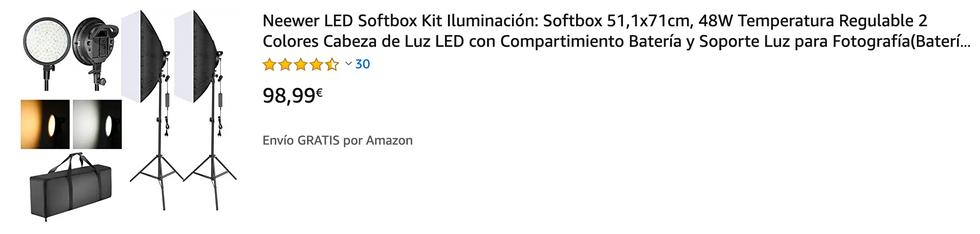 ▶ EL KIT INCLUYE: (2) Softbox para estudio fotográfico con cabeza de luz LED regulable de 48W, (2) Soporte de luz de aleación de aluminio, (2) Adaptador de corriente con enchufe EU, (1) Bolsa de transporte grande; Perfecto para usar en fotografía de retrato, espectáculo en vivo, video de YouTube, estudio en casa, tiro al aire libre, etc. ▶ 2-COLOR 48W REGULABLE CABEZA LED LUZ: 48W Bombillas LED regulables con 2 temperaturas de color (3200K y 5600K); El brillo (de 1% -100%) se puede ajustar fácilmente mediante mandos en la parte posterior; El ventilador de enfriamiento incorporado del Led luz cabeza mejora la disipación del calor mientras está en funcionamiento; El soporte de la lámpara LED puede adaptarse a diferentes necesidades de disparo para ajustar 180 grados ▶ OPCIONES DE 2-POTENCIA ACTUALIZADAS: Está diseñado para ser alimentado por el adaptador de alimentación de CA o por las baterías de ión de litio NP-F550/970, por lo que es más conveniente proporcionar iluminación de manera flexible o fotografías al aire libre (Nota: la batería no está incluida) ▶ SOFTBOX DE ESTUDIO: el difusor blanco incluido puede suavizar la fuente de luz áspera y mejorar el tono de la piel en la fotografía de retrato, brindándole una mejor iluminación uniforme, ayudando a su fotografía a crear una iluminación uniforme ▶ PIE DE LUZ: La altura ajustable varía de 79 centímetros a 188 centímetros; El diseño de escenario de 3 patas bastante estable y su sistema de bloqueo sólido aseguran que todas tus cosas estén seguras cuando se usan; Fácil de plegar y configurar