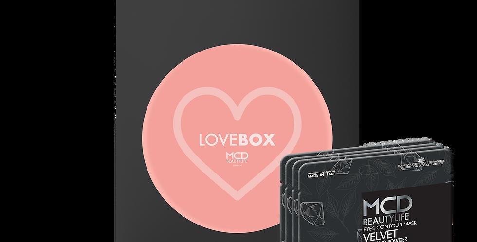 LOVE Box - 4 maschere in pizzo Nero a soli 35€