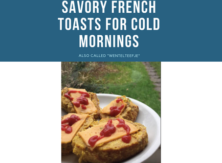 Savory french toast with egg-ish flavor