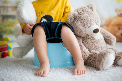 Cute toddler boy, potty training, playin
