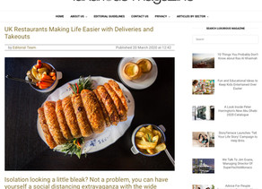 Luxurious Magazine -UK Restaurants making life easier with Deliveries and Takeouts