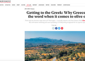 The Independent -Getting to the Greek: Why Greece is the word when it comes to olive oil...