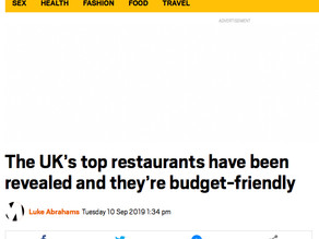 The Metro - UK's top restaurants have been revealed & they're budget friendly...