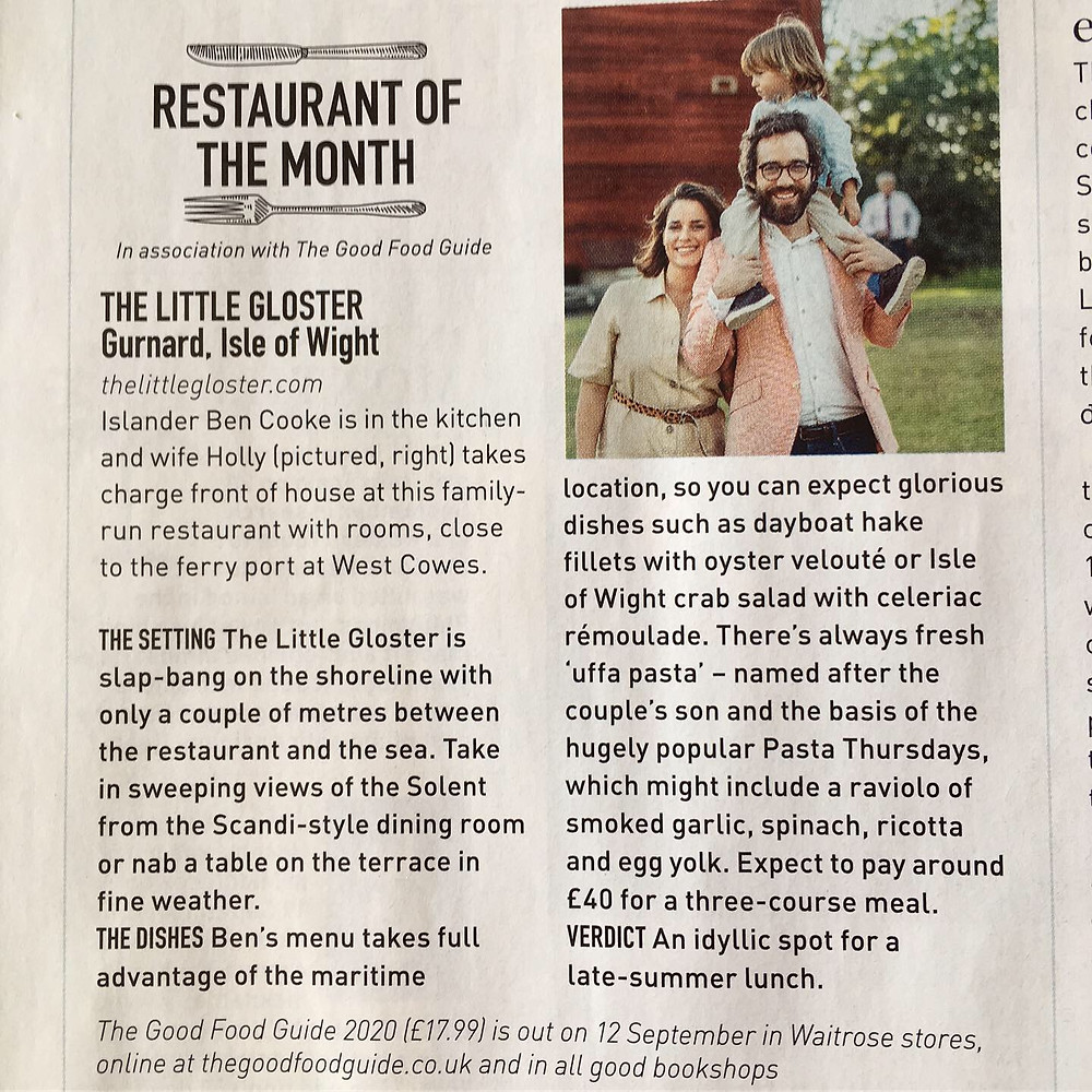 Restaurant of the Month in association with The Good Food Guide
