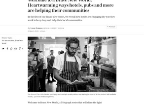 The Telegraph - 'Heart-warming hotels, pubs, and more are helping their communities'