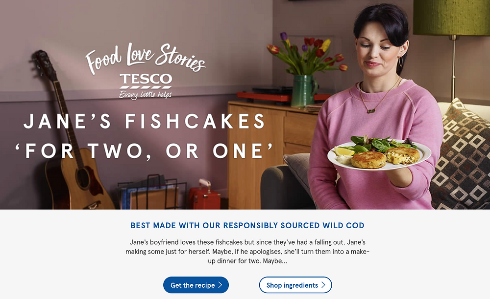 Tesco Food Love Stories campaign image