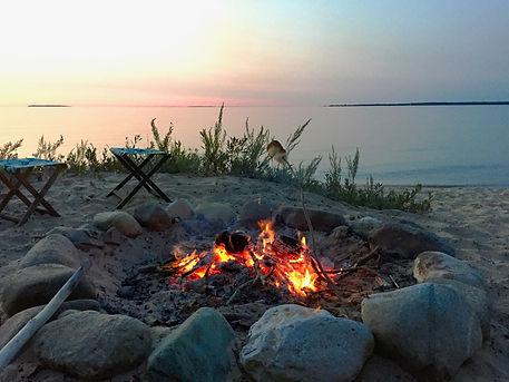 Bonfire on the beach at Play Outside.jpg