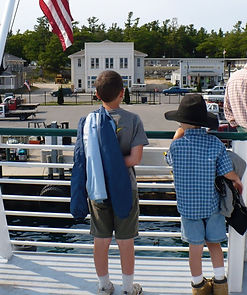 Heading to Beaver Island on the ferry.