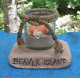 One-of-a-kind handmade souvenirs from Wild Geranium Gifts on Beaver Island at Art in the Harbor